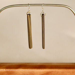 The Stick Earrings in Louisiana Sinker Cypress