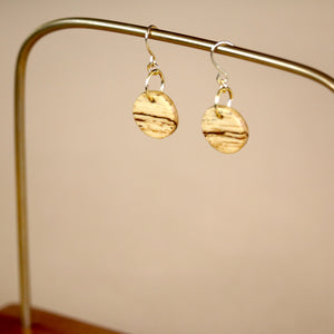 The Camille Earrings in Spalted Pecan