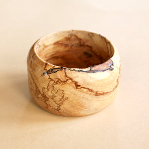 Chunky Bangle in Spalted Pecan