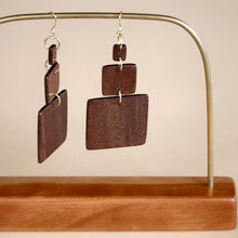 Load image into Gallery viewer, The Gabrielle Earrings in Walnut