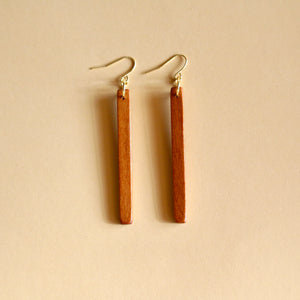 The Stick Earrings in Cherry