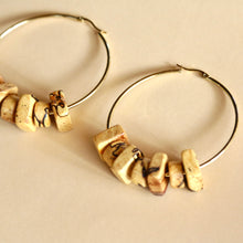 Load image into Gallery viewer, The Angie Hoops in Spalted Pecan