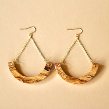 Load image into Gallery viewer, The Melanie Earrings in Spalted Pecan
