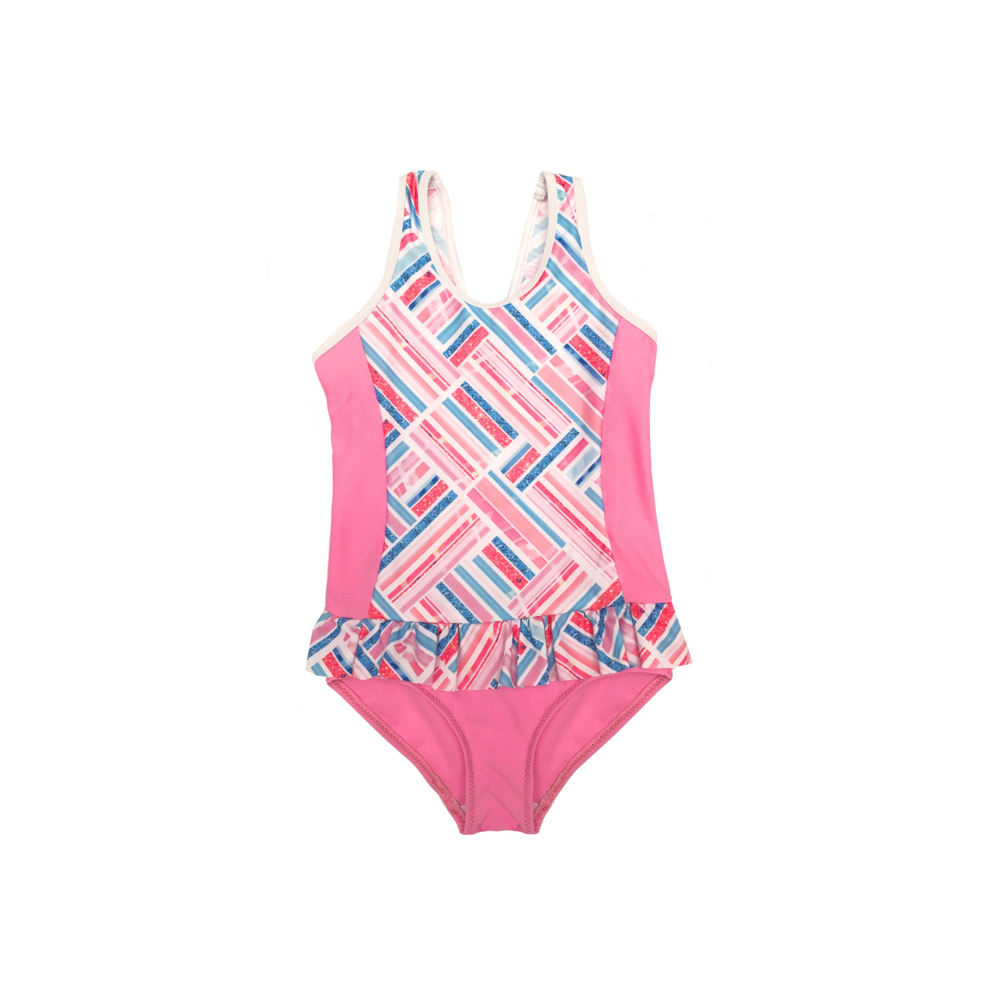 1004 Miss Sparkle Frill One Piece  - Chlorine resist - Salty Ink