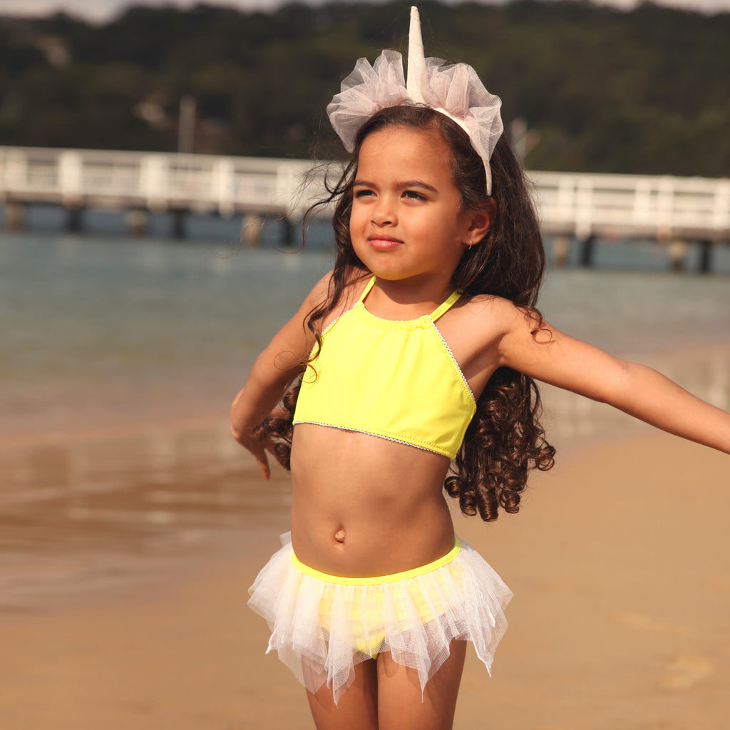 1133 Miss Unicorn Plain TuTu Bikini