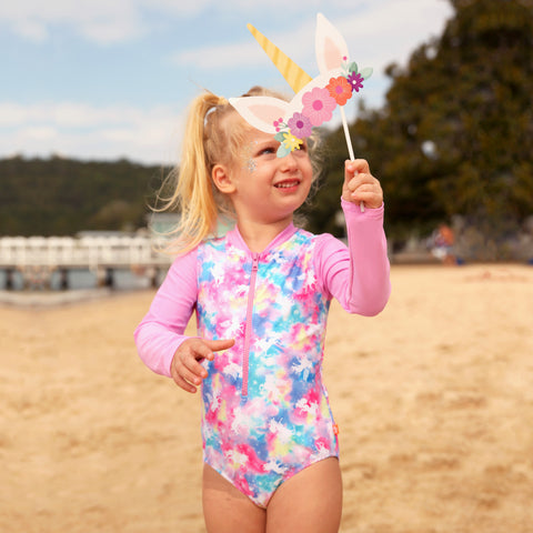1135 Miss Unicorn Sunsuit - Salty Ink