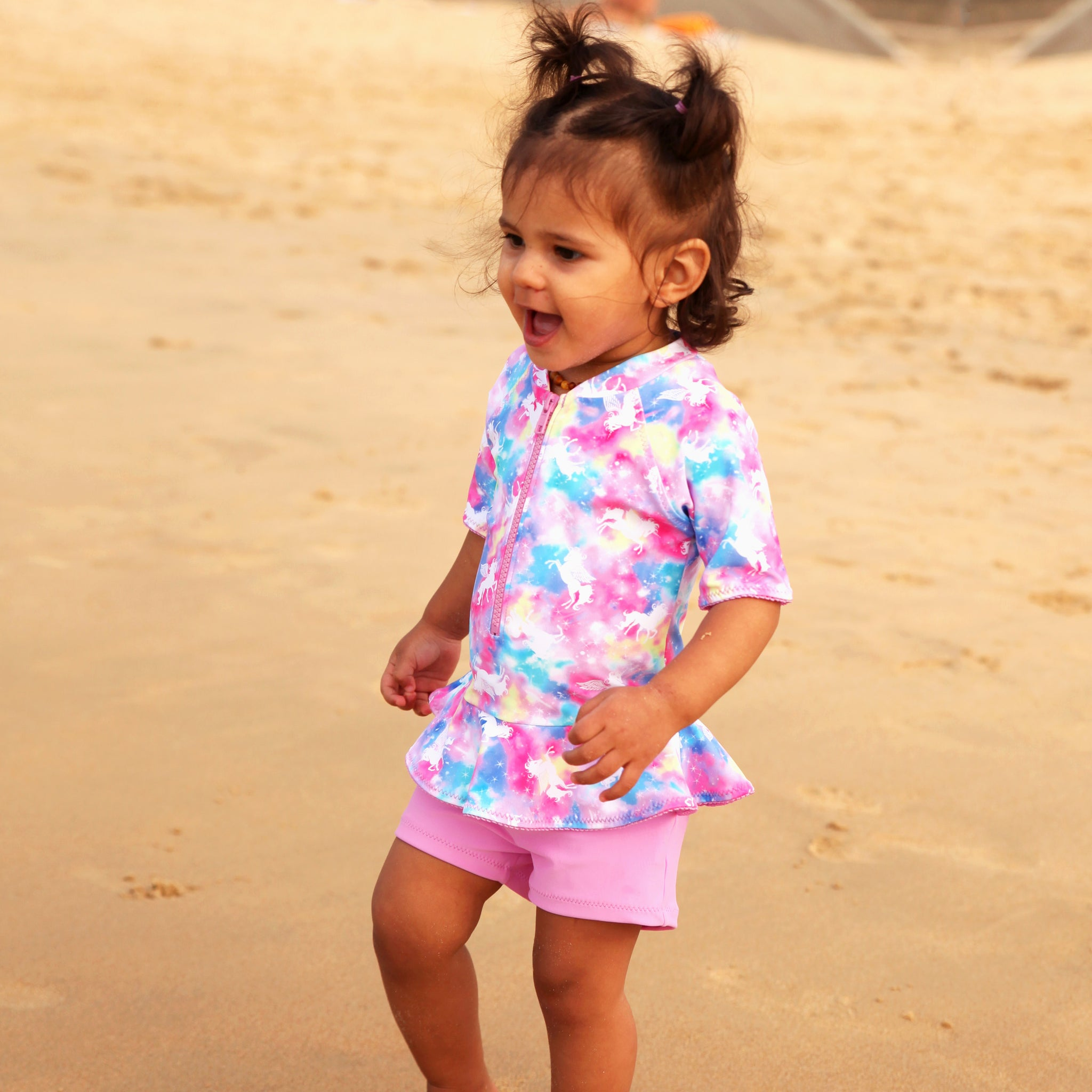 1136 Miss Unicorn Playsuit - Salty Ink
