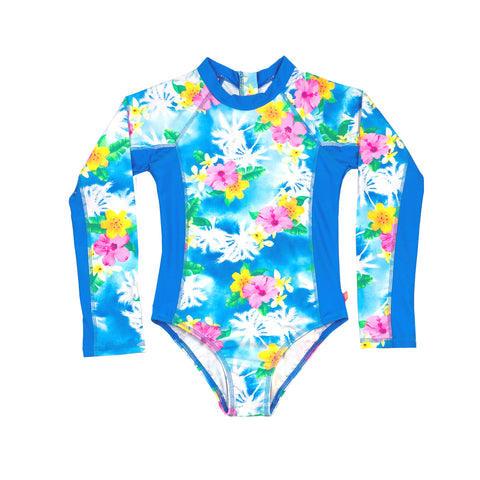 1153 Coco Palms Long sleeve Surfsuit - Salty Ink