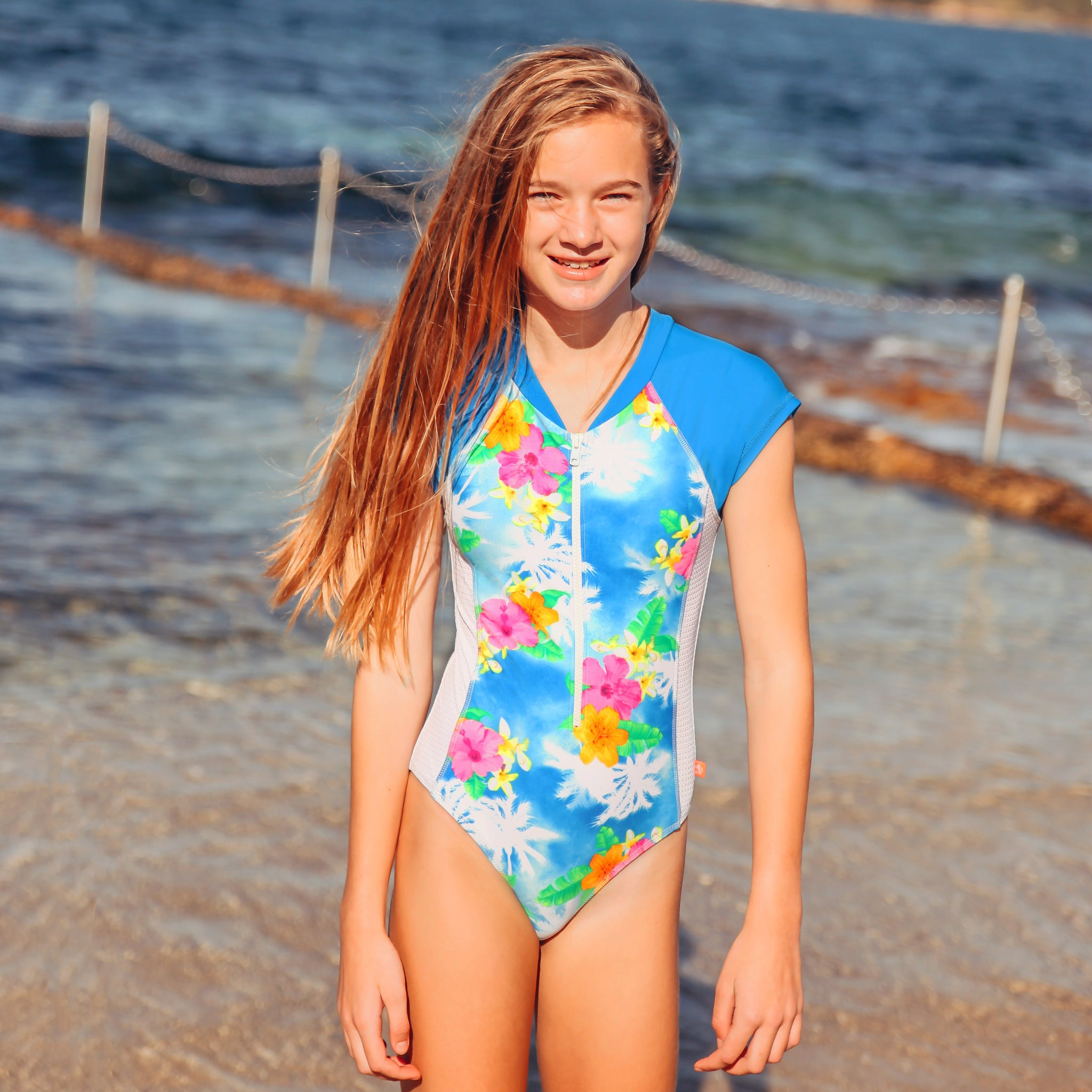 1179 Coco Palms Surfsuit - Salty Ink
