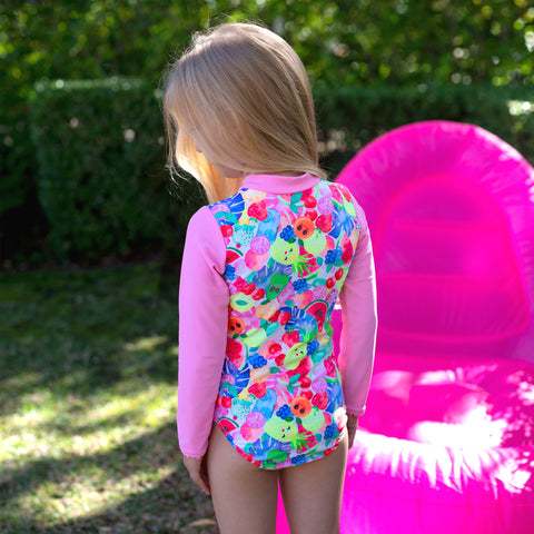 1202 Miss Fruitti Sunsuit - Salty Ink