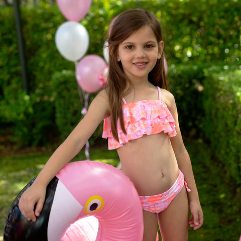 1226 Miss Flamingo Tube bikini - Salty Ink