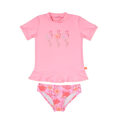 1227 Miss Flamingo Sunvest set - Salty Ink