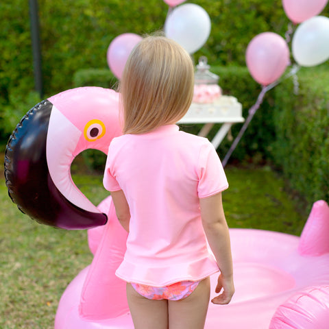 1227 Miss Flamingo Sunvest set