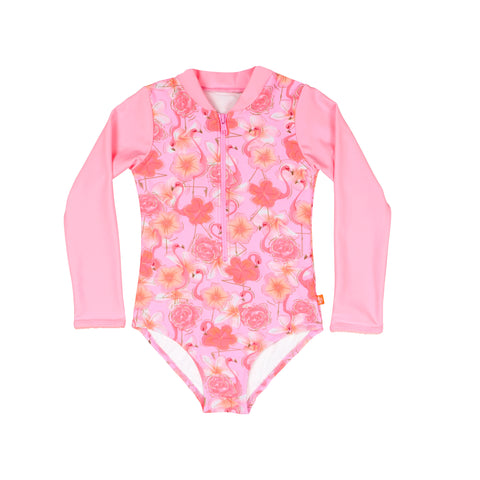 1229 Miss Flamingo Sunsuit - Salty Ink