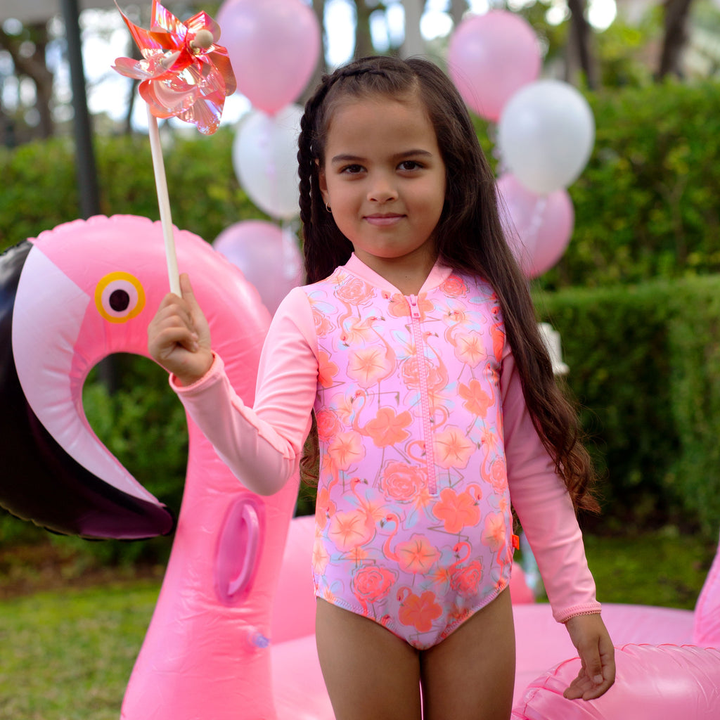 1229 Miss Flamingo Sunsuit