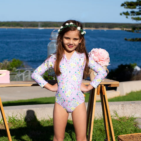 1230 Miss Posie Sunsuit - Salty Ink
