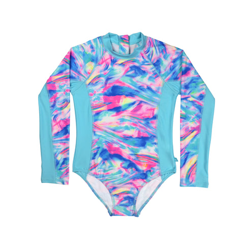 1310 Rollergirl Long sleeve Surfsuit - Salty Ink