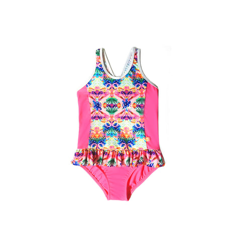 164 Miss Flamingo Frill One Piece - Salty Ink