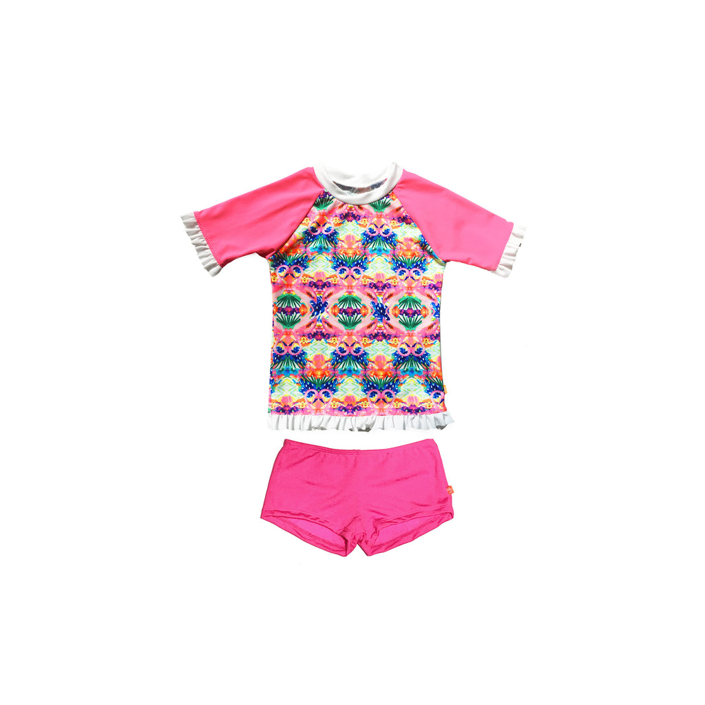 169 Miss Flamingo Rashvest Set