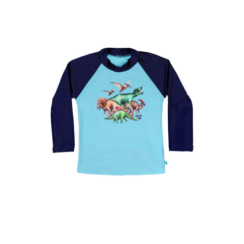 407 Dino Safari Long Sleeve Rashvest - Salty Ink