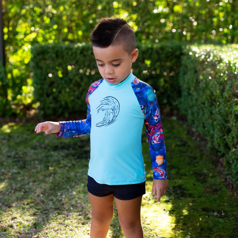 410 Space Surfer Long Sleeve Rashvest Set - Salty Ink