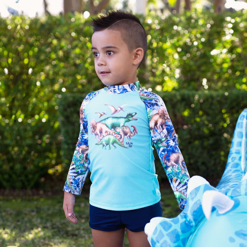 410 Dino Safari Long Sleeve Rashvest Set