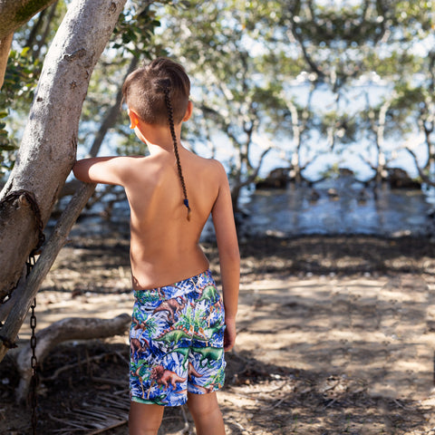 411 Dino Safari Boardshort - Salty Ink