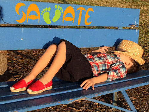 Red Espadrilles for Kids - Savate