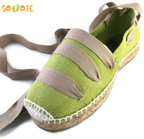 Pistachio Espadrilles With Jute Laces - Savate