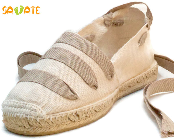 Ivory Espadrilles with sport laces - Savate
