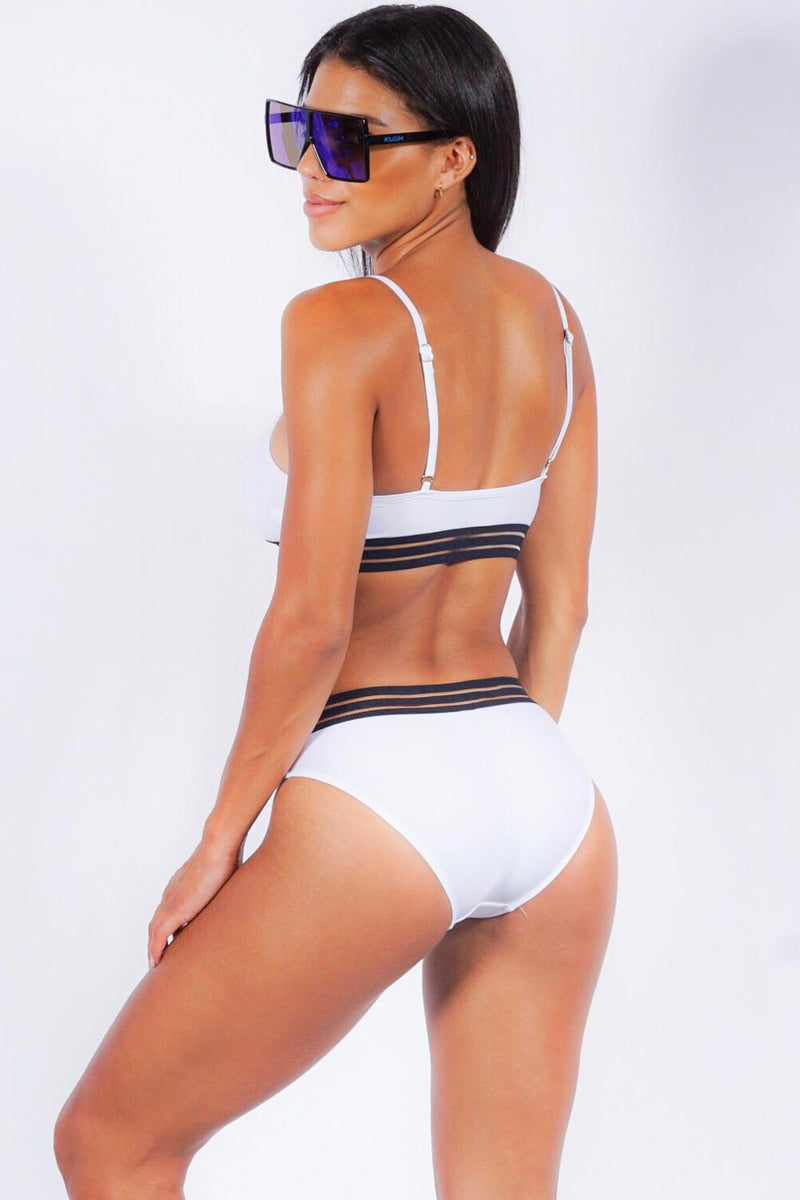Sunshine Beach bikini set, white