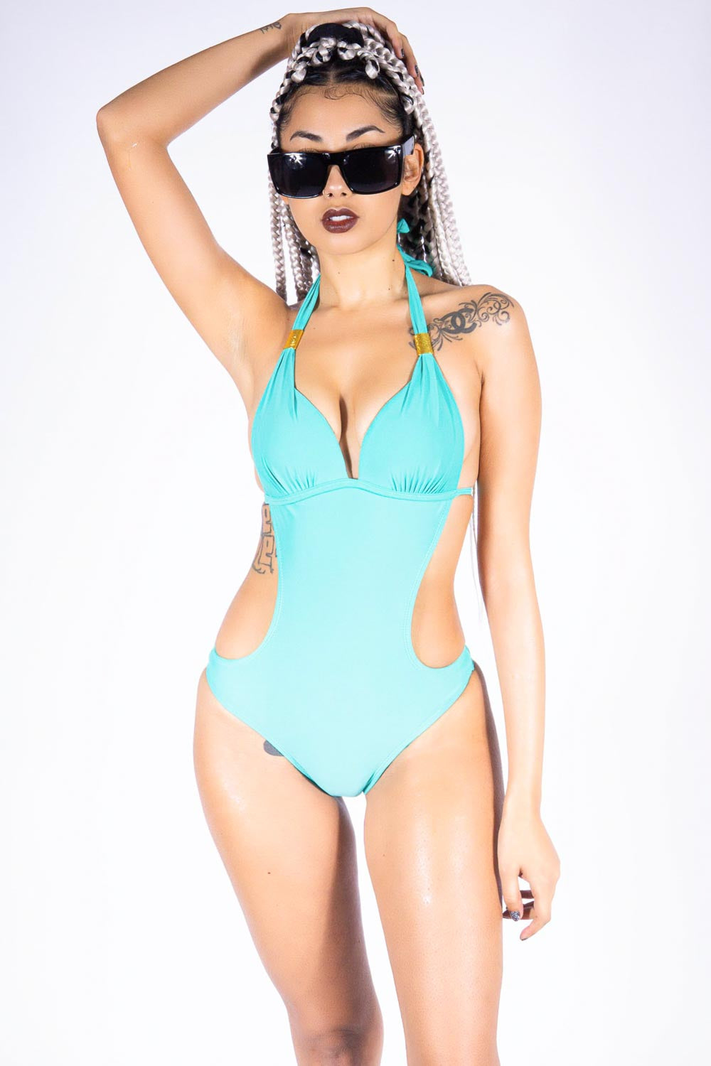 Anse d'Azur one piece, teal