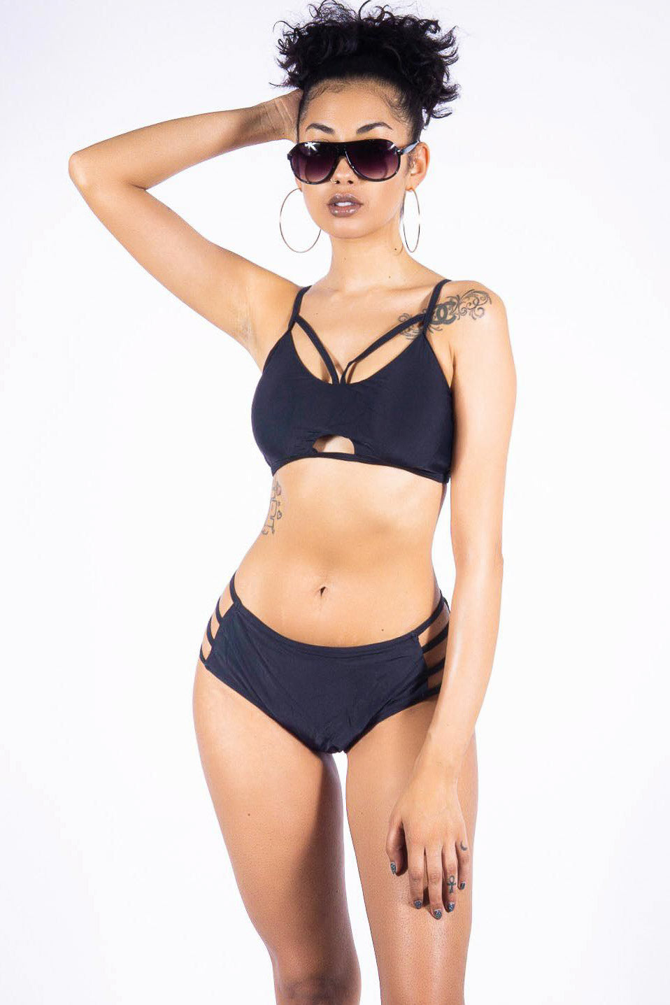 Bathsheba Beach two piece, black
