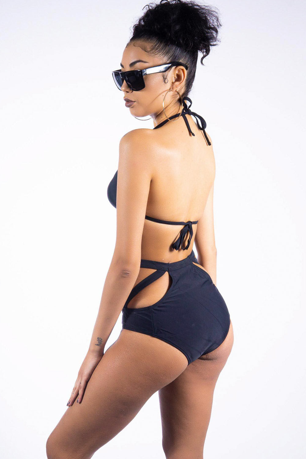 Black Beach two piece, black