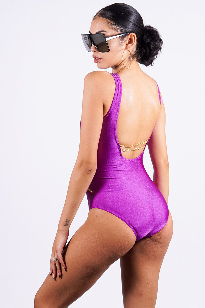 Balandra Beach one piece, purple