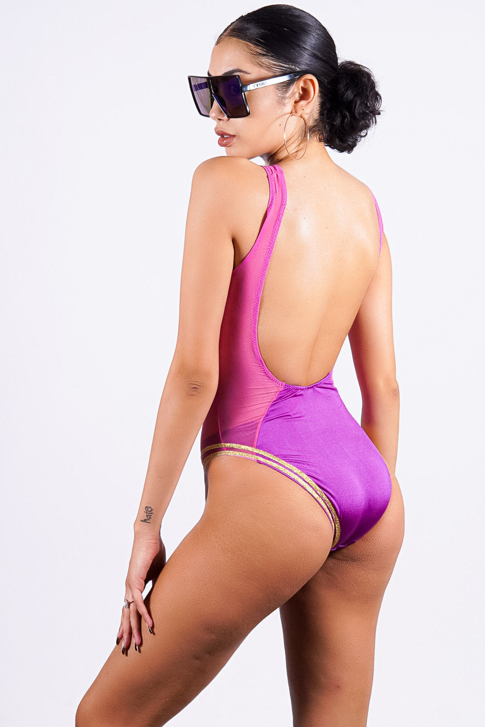 Matira Beach one piece, purple