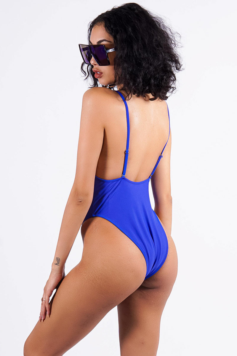 Saidia Beach one piece, blue