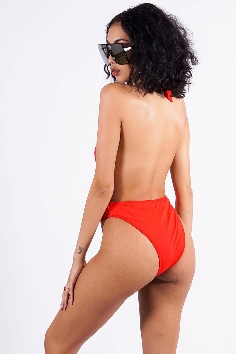 Luzira Mar Beach one piece, red
