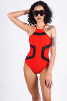 Praia Formosa one piece, red