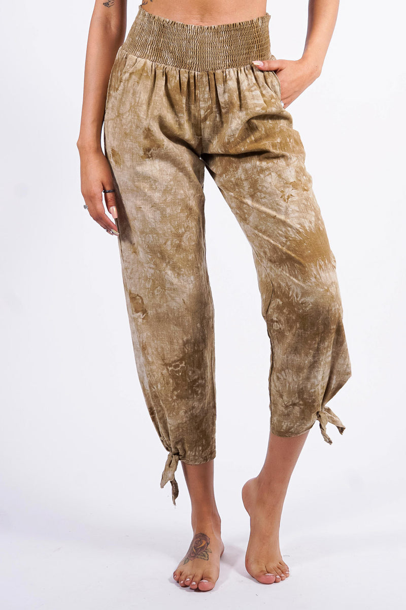 Angelica's beach pants, olive