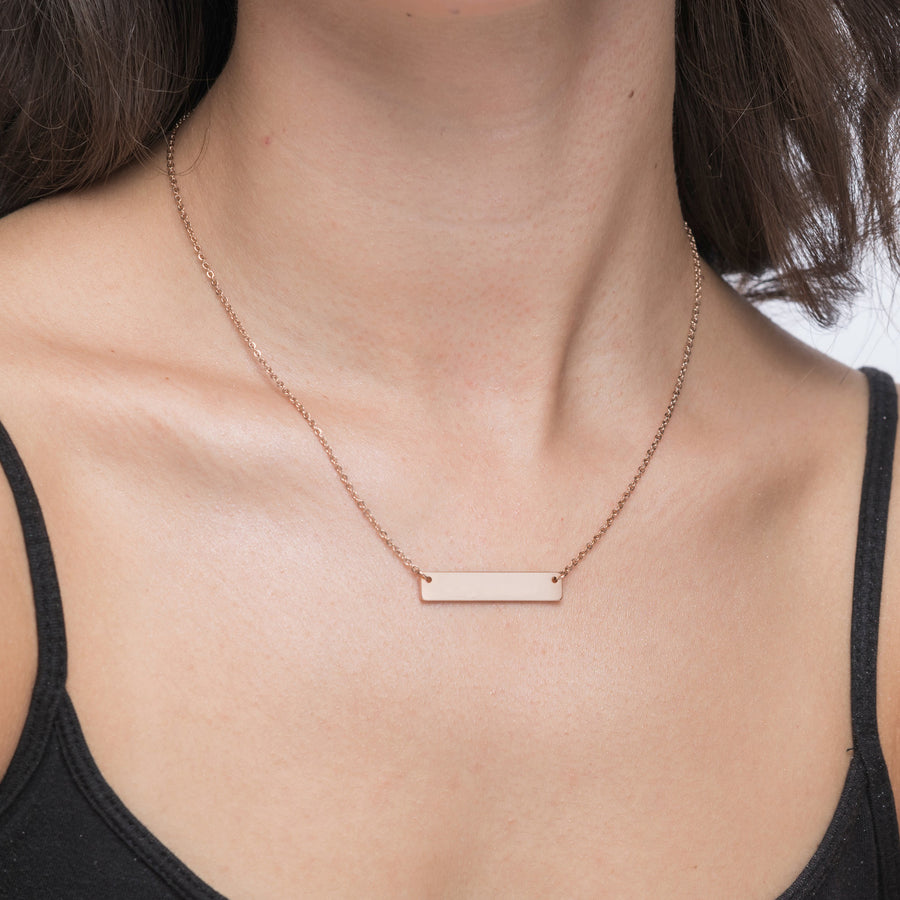 Breathe Personalized Bar Necklace 011