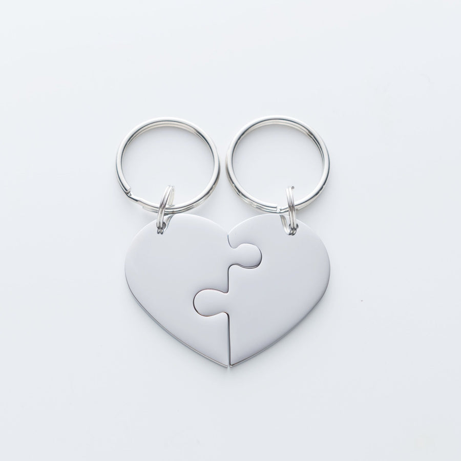 I Met You I Liked You I Love You I'm Keeping You Heart Puzzle Piece Keychain Set. The Day I Met You Quote Card 017
