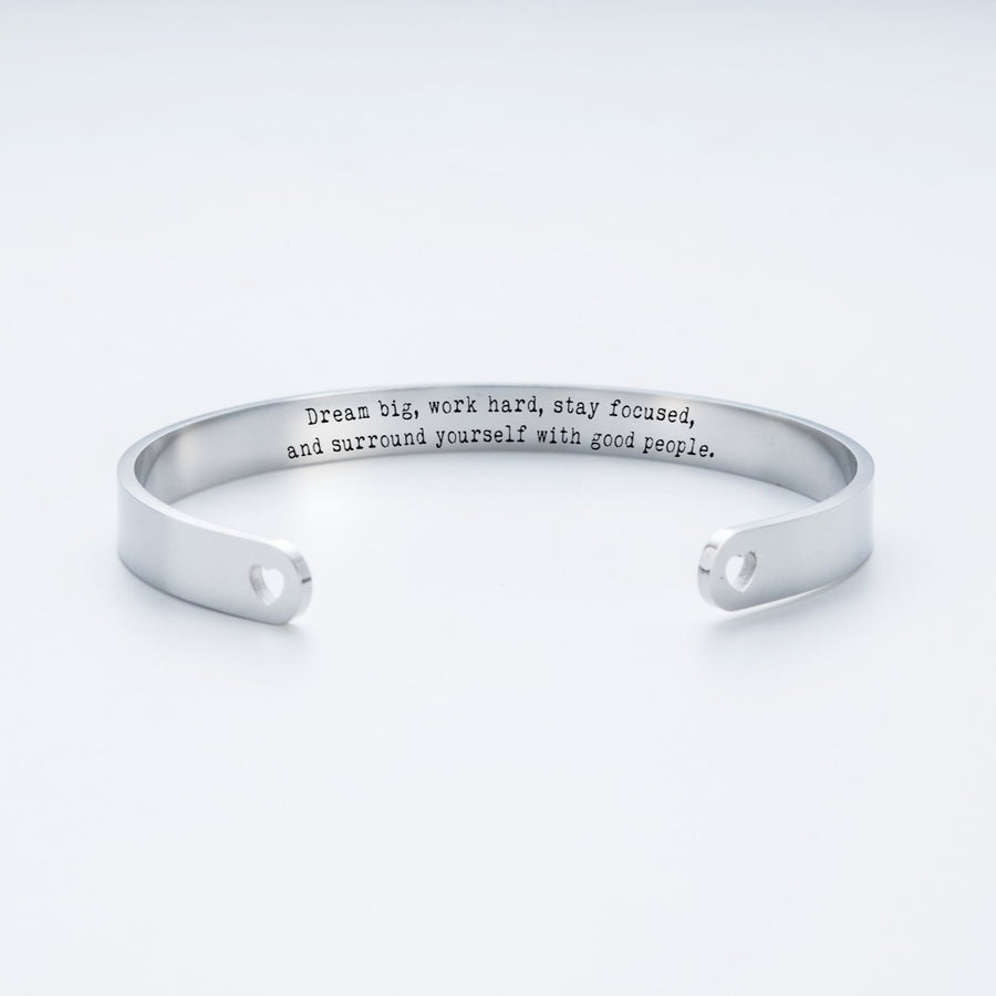 Dream Big, Work Hard Cuff Bracelet 019