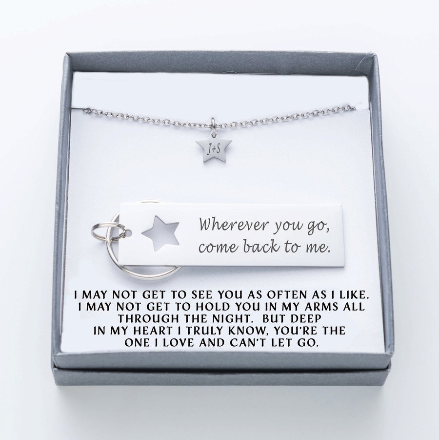 Military Couple, Army Husband, US Army, Husband Gift, Military Wife, Boot Camp, Wherever you go, Deployment, Boyfriend Gift, Star  009