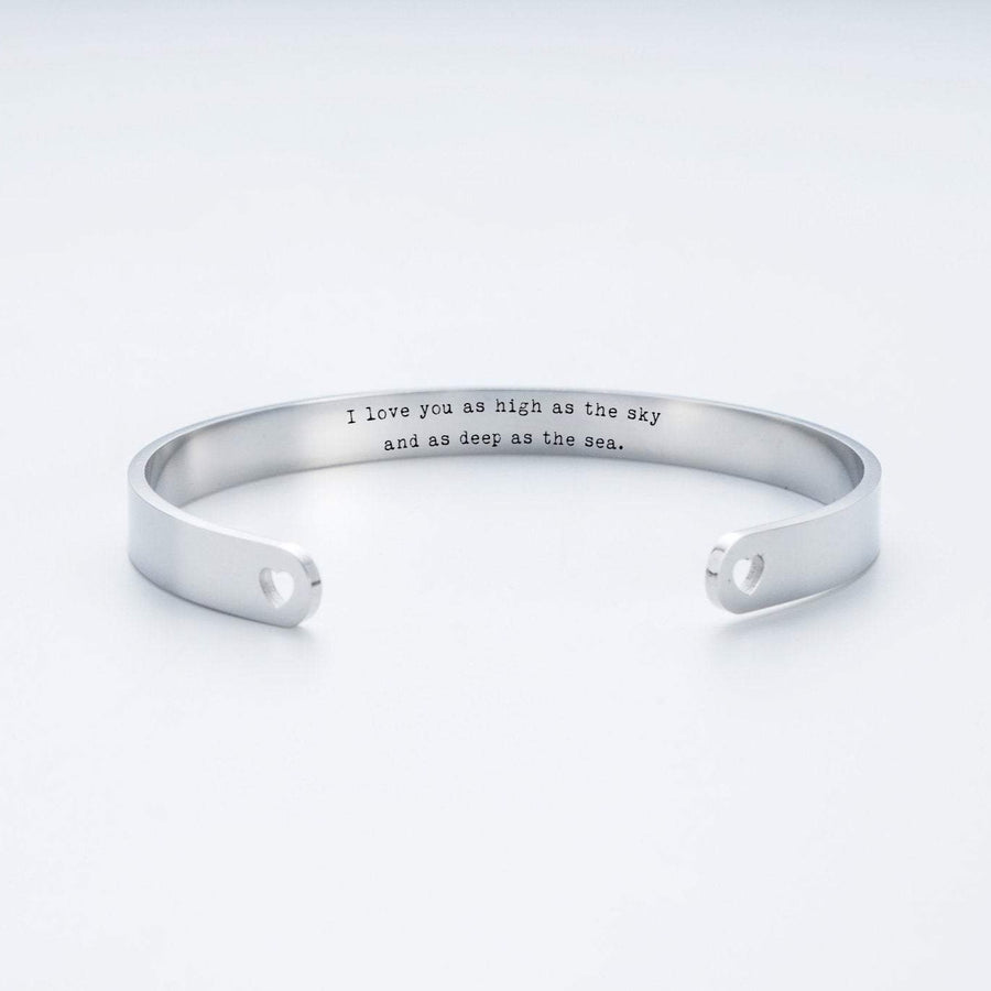 I Love You As High As The Sky, And As Deep As The Sea Cuff Bracelet.  019