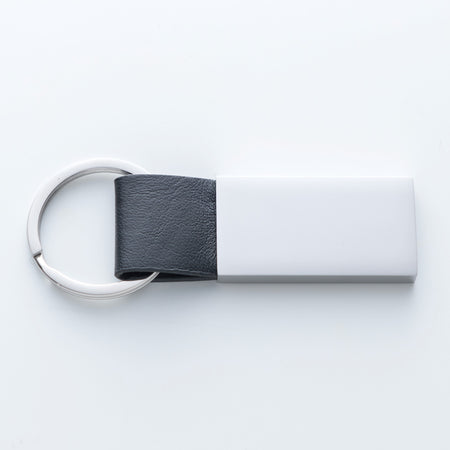 Drive Safe.  I Need You Here With Me Large Keychain With Black Genuine Leather