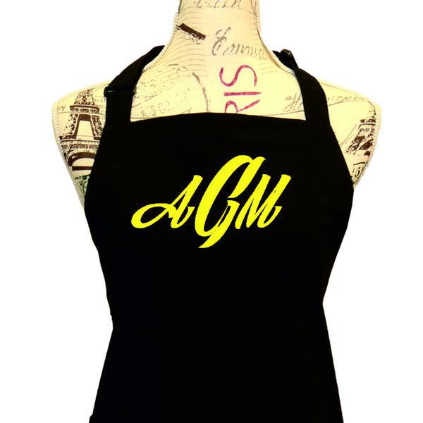 Triple Monogram Apron