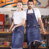 DENIM BIB APRON for cooking, gardening, crafting, tattoo artists, bartenders, baristas, chefs, hair stylists, etc. Personalized gifts for a birthday, wedding, Mother's Day, Father's day ,anniversary or housewarming. Denim apron, Retro Flirty Apron, Embriodered aprons, Barista apron, BBQ apron, Grill apron, Barber apron, Chef apron