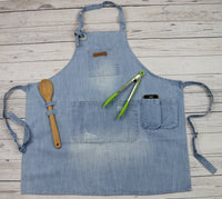 denim apron for barista grill chef cafe restaurant
