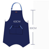 U3045D -  Deckle Edged Vintage Denim Bib or Waist Apron